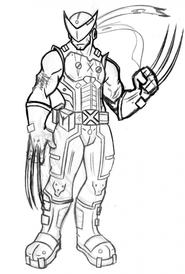 Get This Easy Wolverine Coloring Pages for Preschoolers XoN4i
