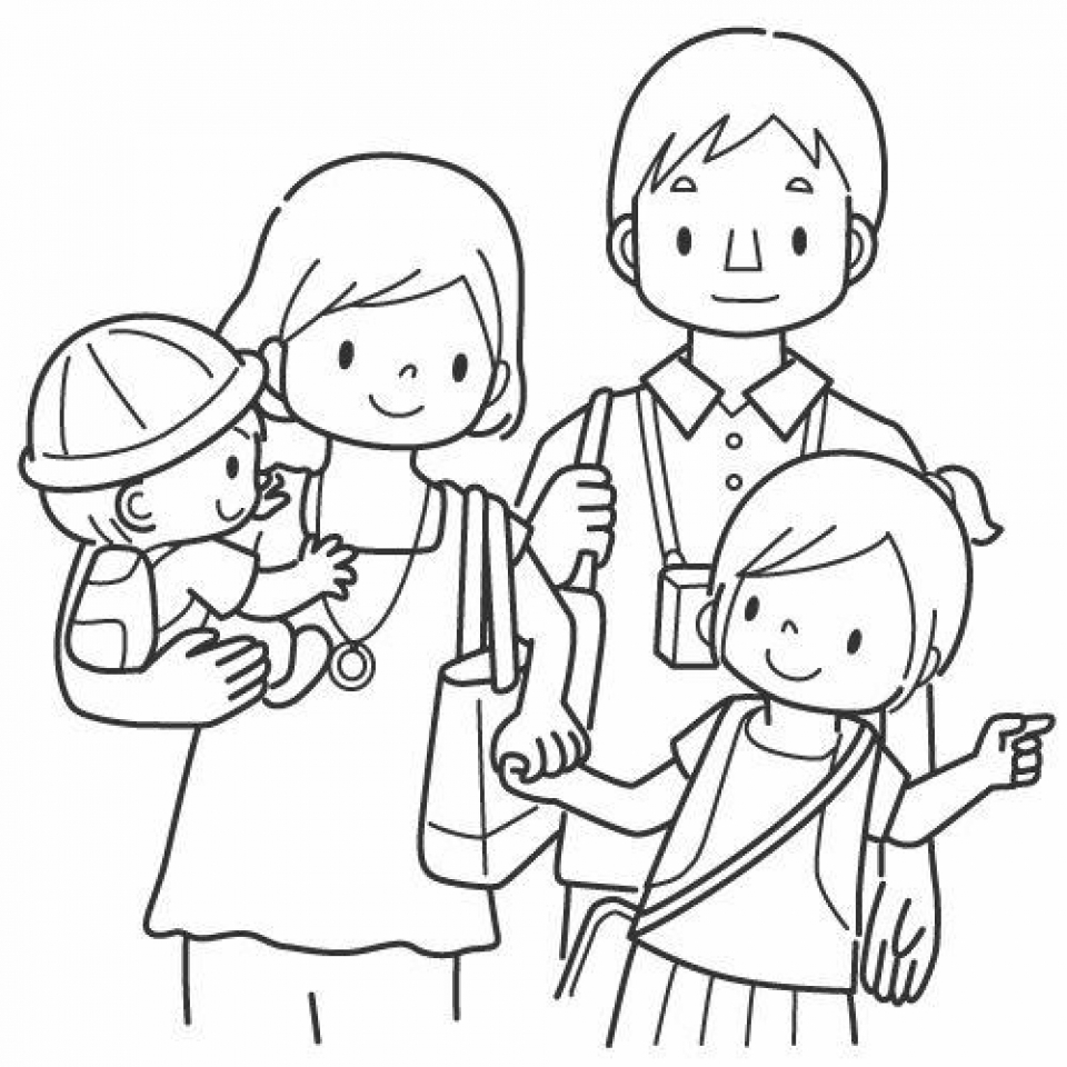 Get This Family Coloring Pages Printable For Kids R1n7l Family Coloring Page