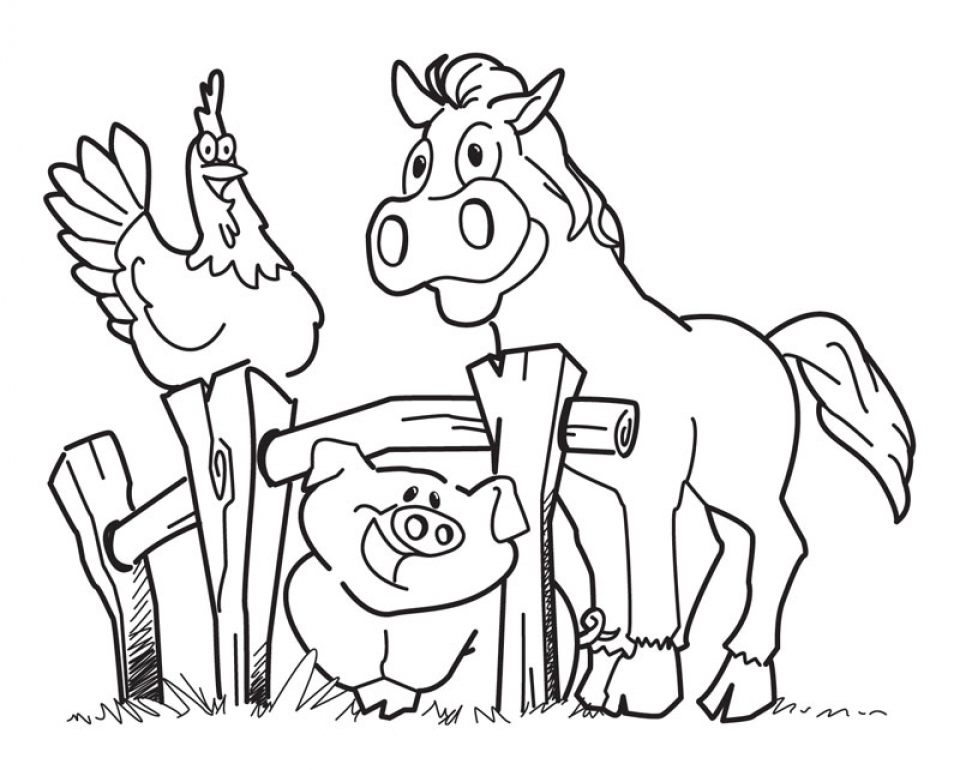 Farm Animal Coloring Pages Printable for Kids   r1n7l