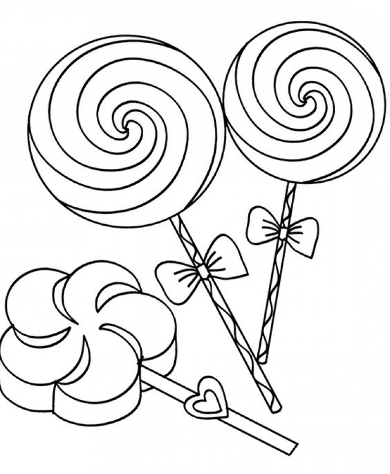 Get This Free Candy Coloring Pages For Toddlers P97hr