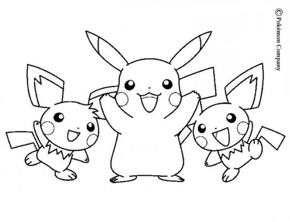 A Pokemon Crew | Omalovánky, Pikachu, Pokemon | 735x960