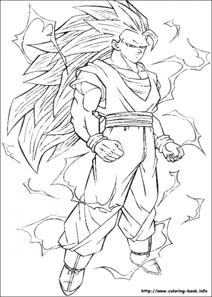 Free DBZ Coloring Pages   4488