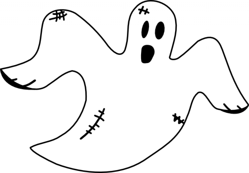 Free Ghost Coloring Pages   46159