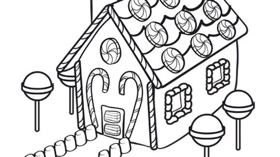 Get This Free Gingerbread House Coloring Pages for Kids ddpA0 !