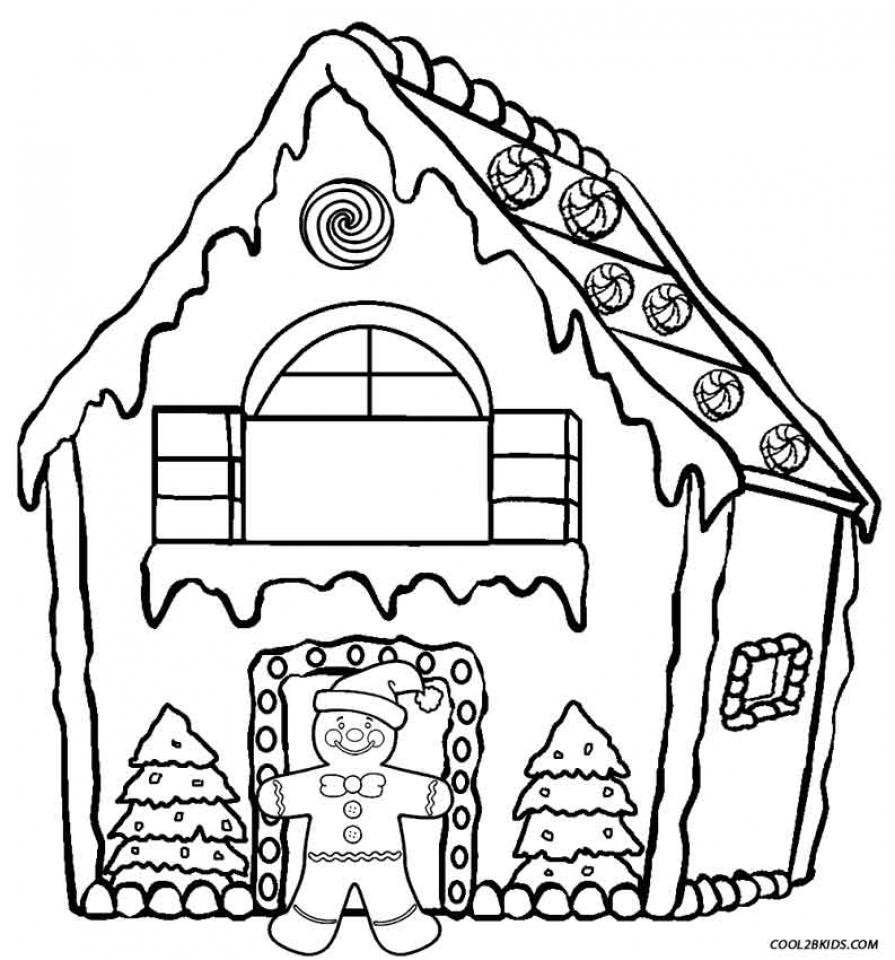 Get This Free Gingerbread House Coloring Pages for Toddlers vnSpN !