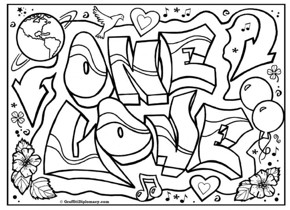 free graffiti coloring pages to print 77417