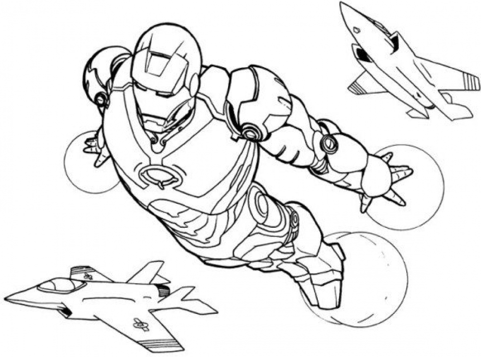 20+ Free Printable Iron Man Coloring Pages ...