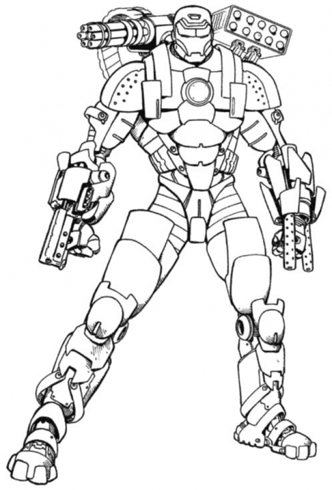 Get This Free Ironman Coloring