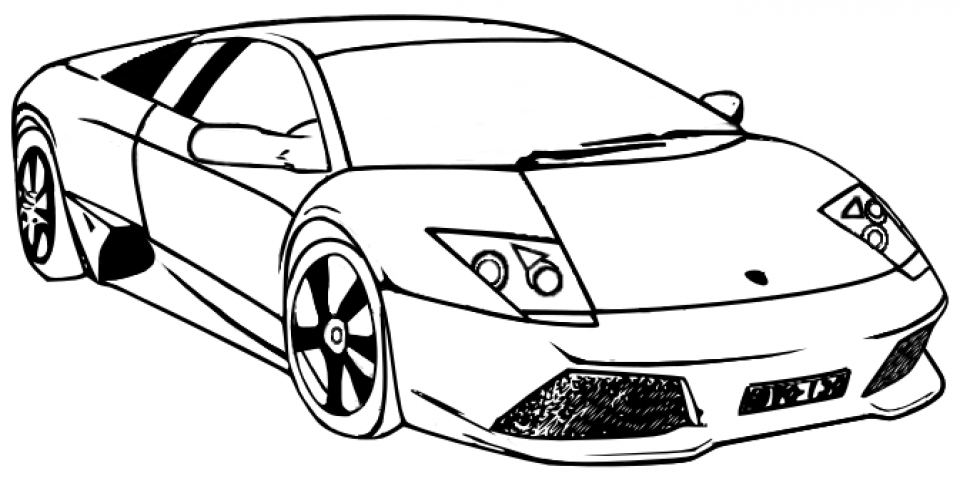 Get This Free Lamborghini Coloring Pages 25762