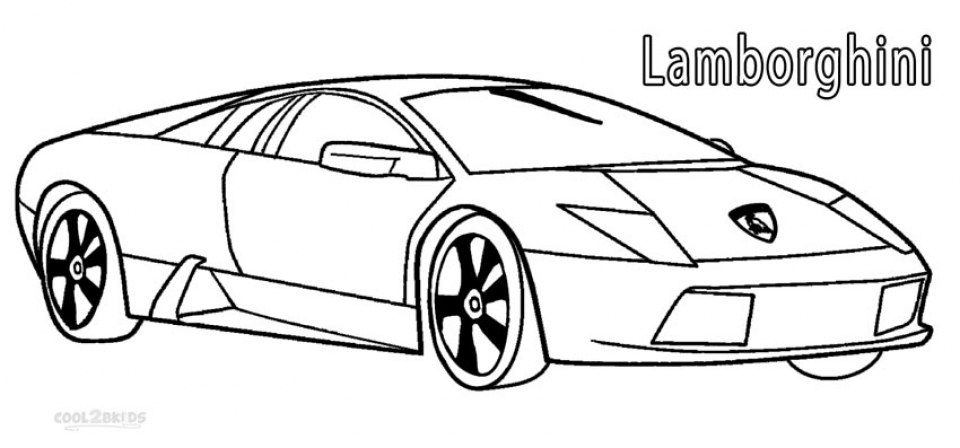 free lamborghini coloring pages 4488 - Lamborghini Coloring Pages