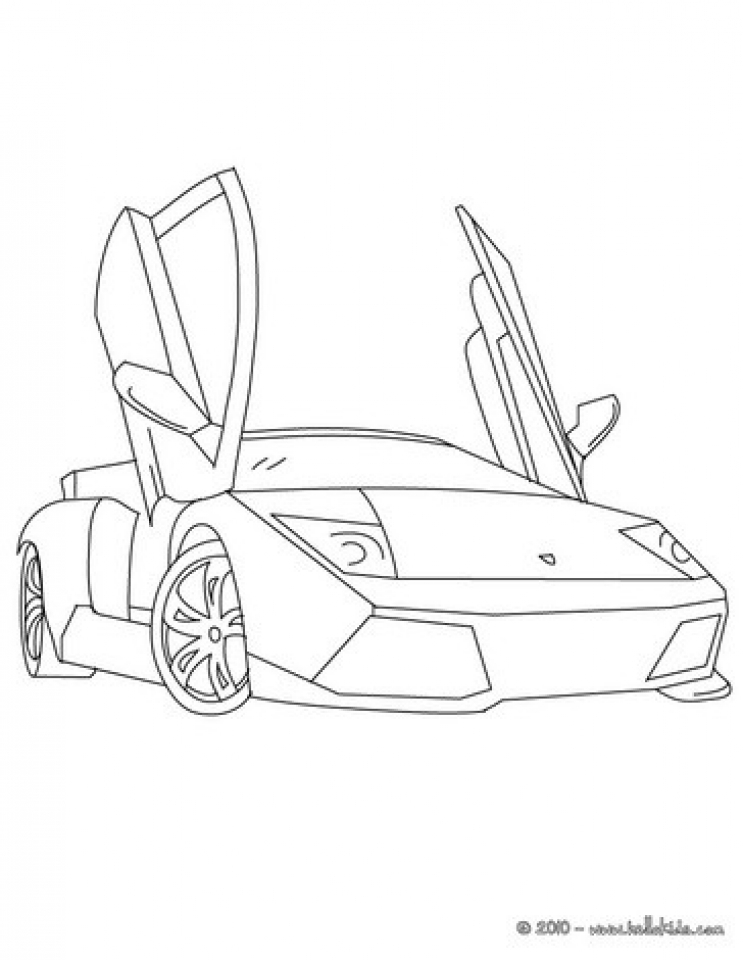 Get This Free Lamborghini Coloring Pages to Print 12490 !