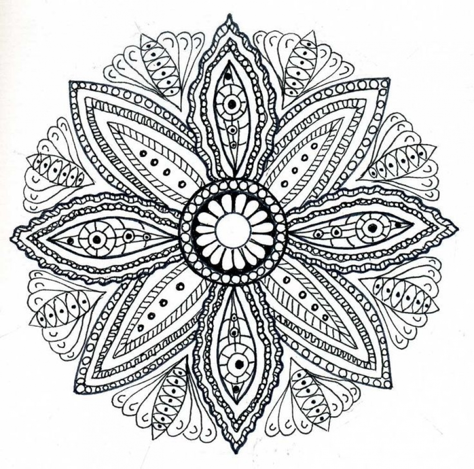 Free Mandala Coloring Pages For Adults 47124