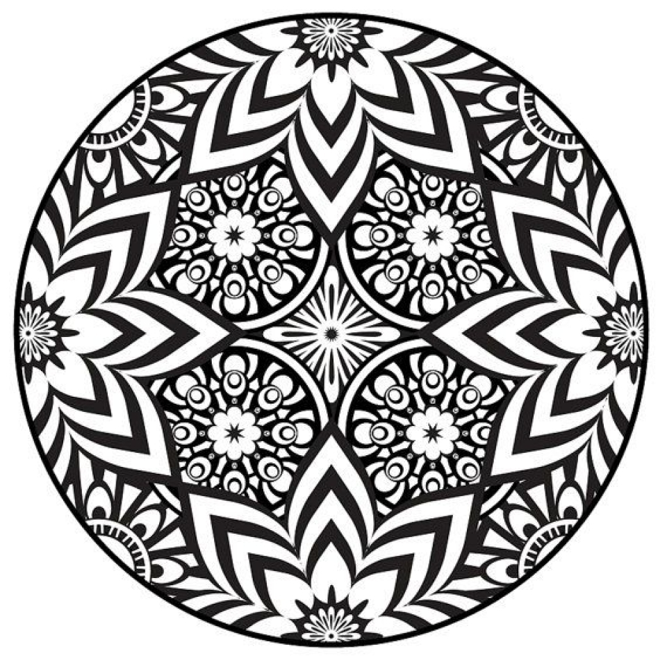 Get this free mandala coloring pages for adults to print for Printable mandala coloring pages for adults
