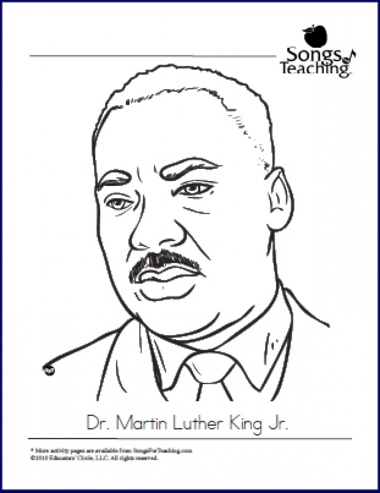 Get This Free Martin Luther King Jr Coloring Pages For