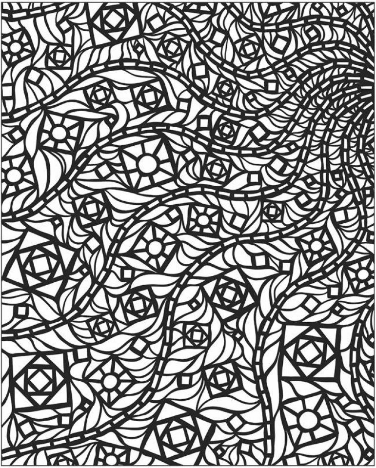 Get This Free Mosaic Coloring Pages 42893 !