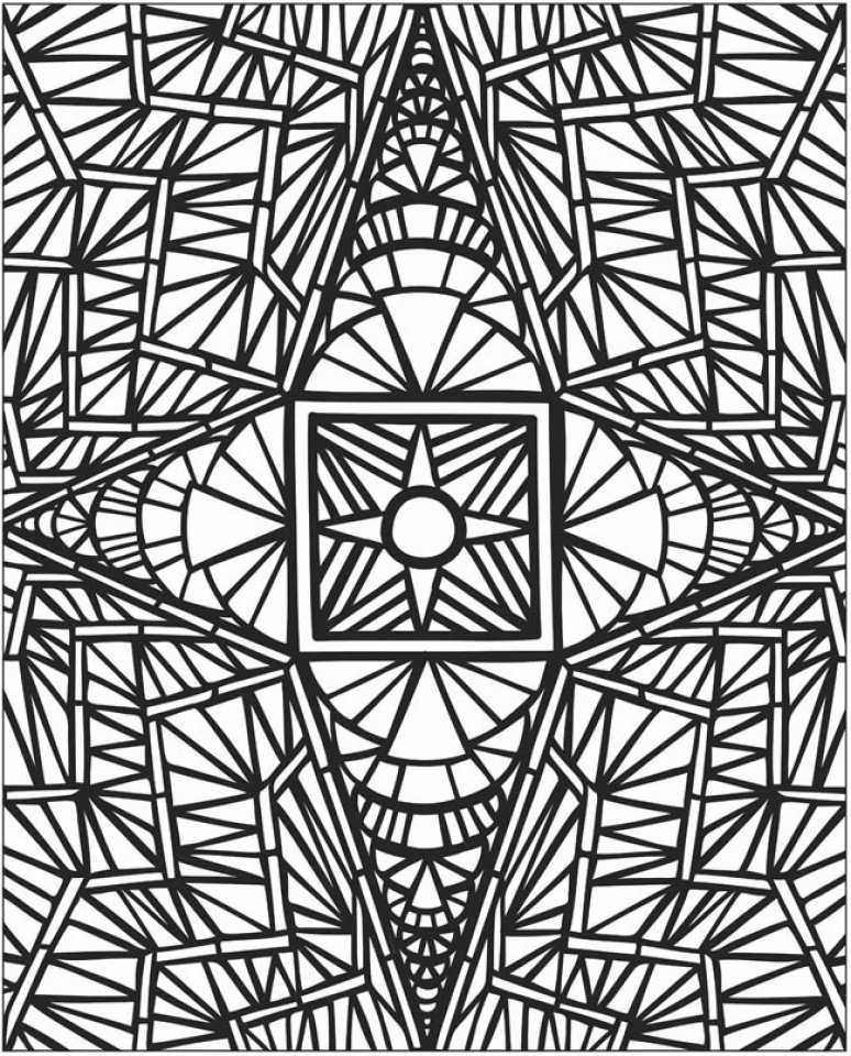 free mosaic coloring pages 47124