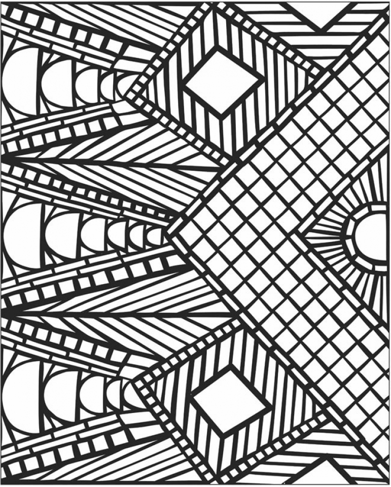 free mosaic coloring pages 92143 - Mosaic Coloring Books