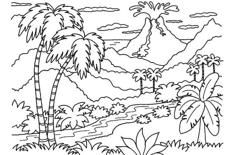 Get This Free Nature Coloring Pages for Kids yy6l0 !