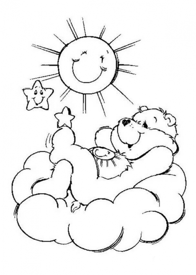Free Picture Of Care Bear Coloring Pages Prmlr