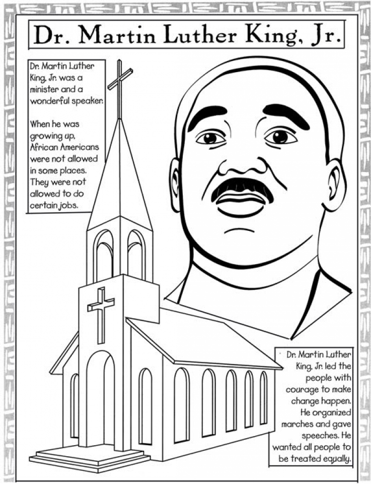 black history month preschool coloring pages - get this free picture of martin luther king jr coloring