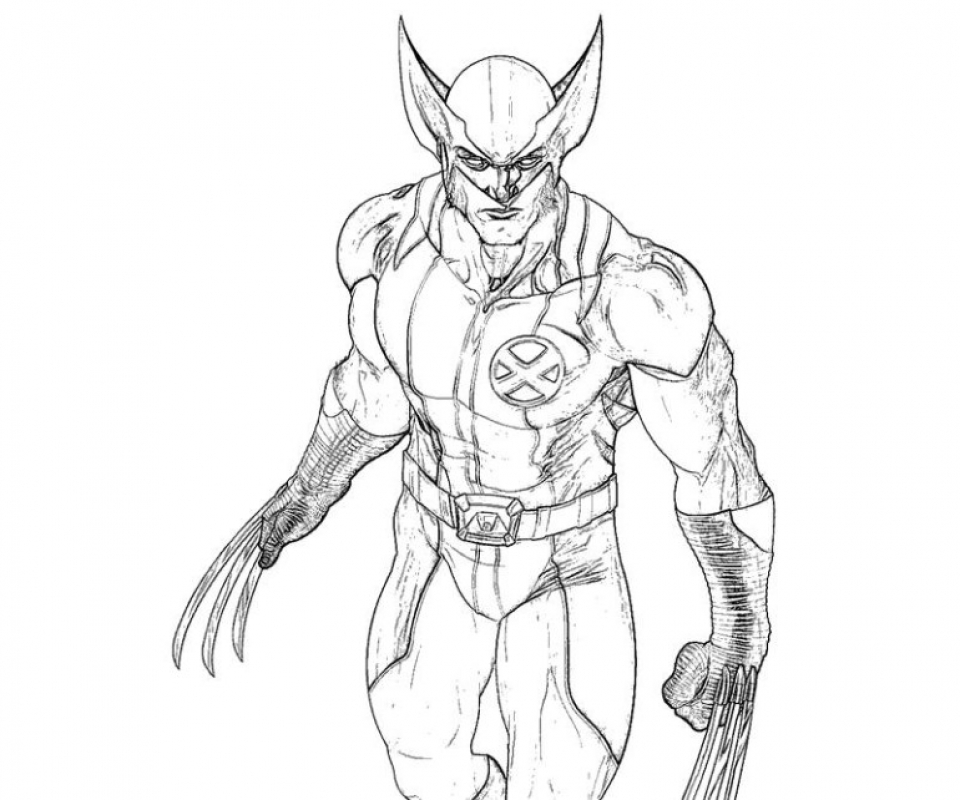 Get This Free Picture of Wolverine Coloring Pages mbYjg !