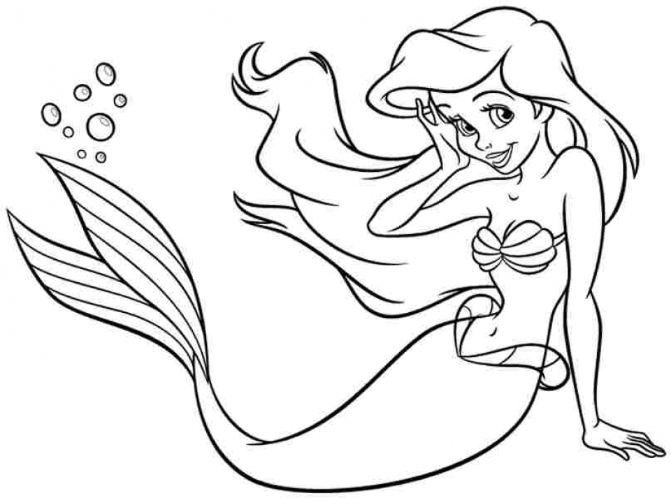 free printable ariel coloring pages for kids 5gzkd