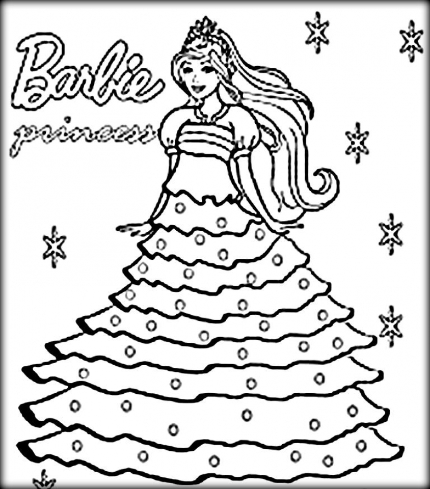 free printable barbie coloring pages for kids 5gzkd - Printable Barbie Coloring Pages