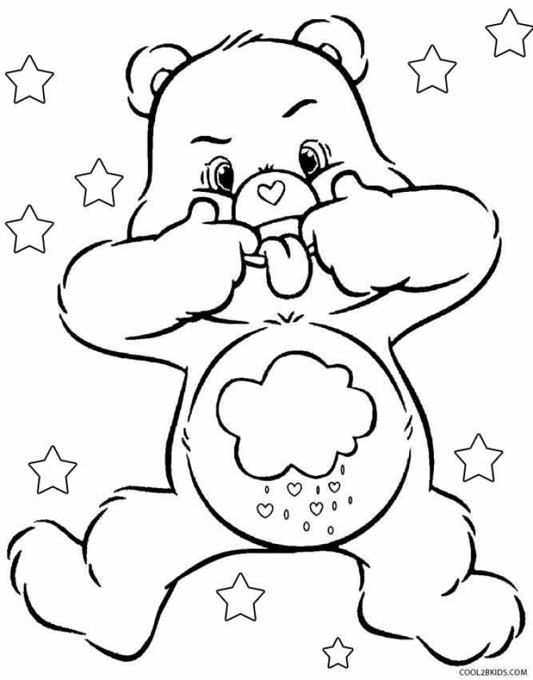 Get this free printable care bear coloring pages for kids for Free bear coloring pages