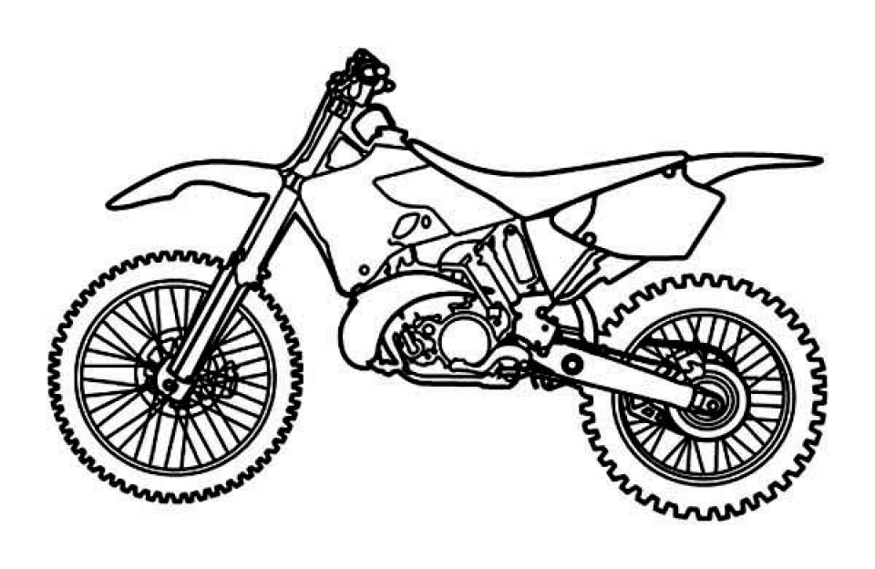 Get this free printable dirt bike coloring pages for kids for Coloring pages bikes