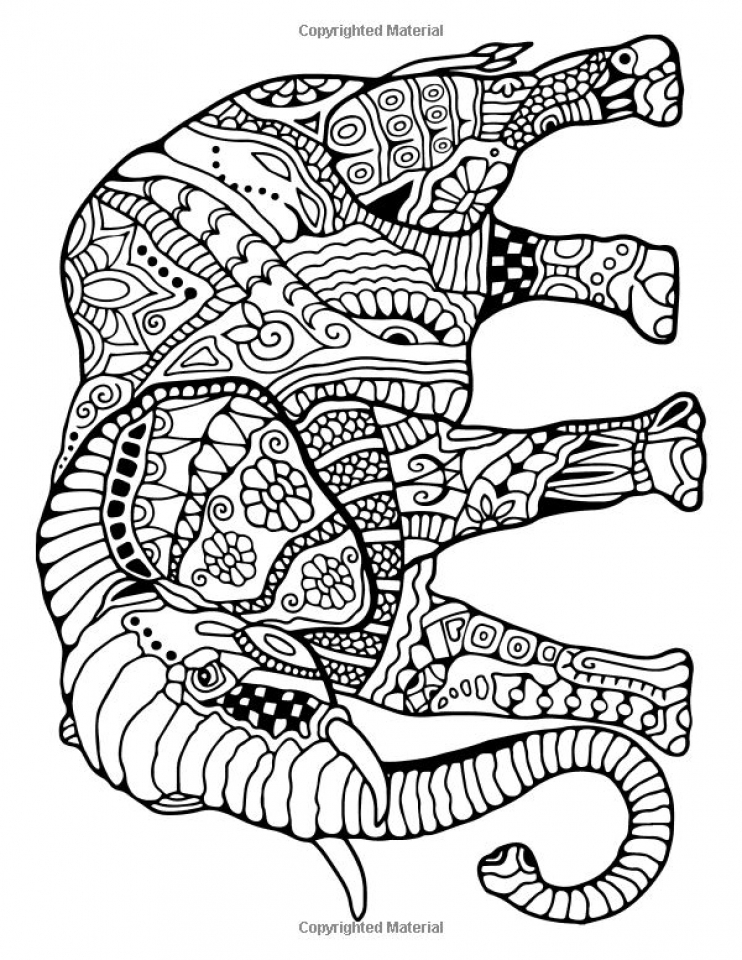 free printable elephant coloring pages for adults kl467 - Free Elephant Coloring Pages