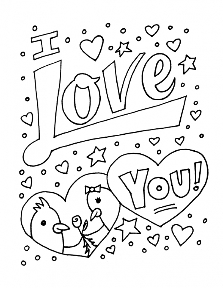 Get This Free Printable I Love You Coloring Pages For Kids