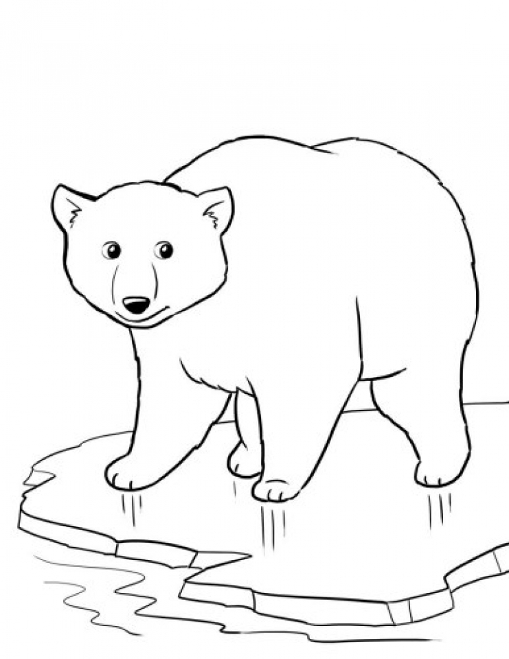 Get This Free Printable Polar Bear Coloring Pages for Kids