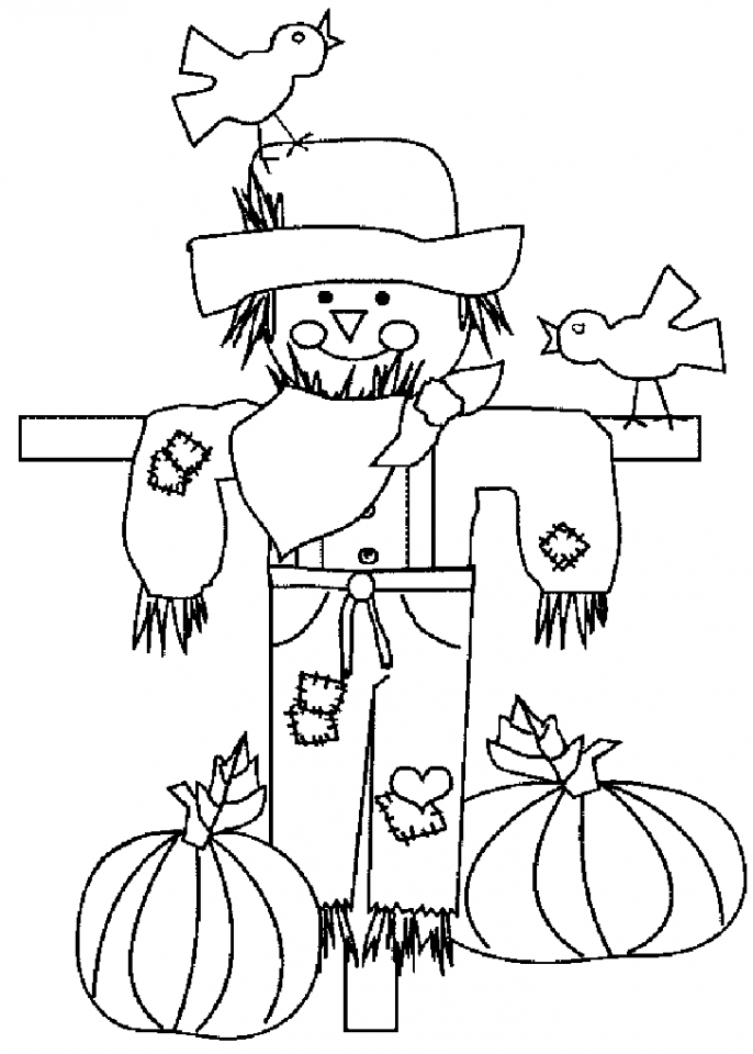 Get This Free Printable Scarecrow Coloring Pages for Kids I86Om !