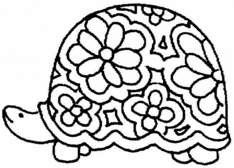 Get this free printable turtle coloring pages for kids 5gzkd for Turtle coloring pages