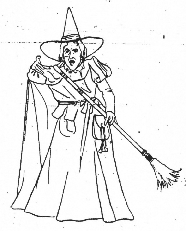 Get This Free printable Wizard Of Oz Coloring Pages wicked witch