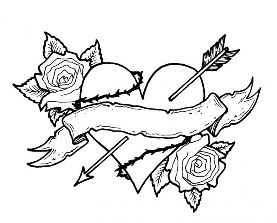 rose coloring pages for adults - get this free roses coloring pages for adults 75908