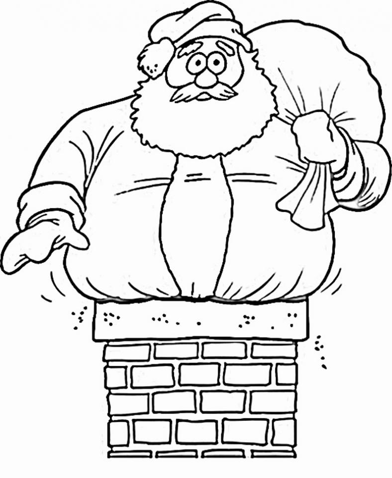 Free Santa Coloring Page 16377