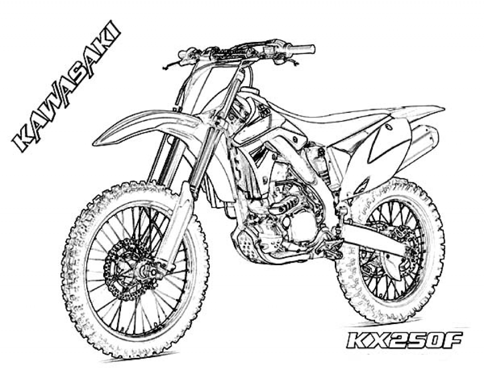 Free Simple Dirt Bike Coloring Pages For Children Af8vj