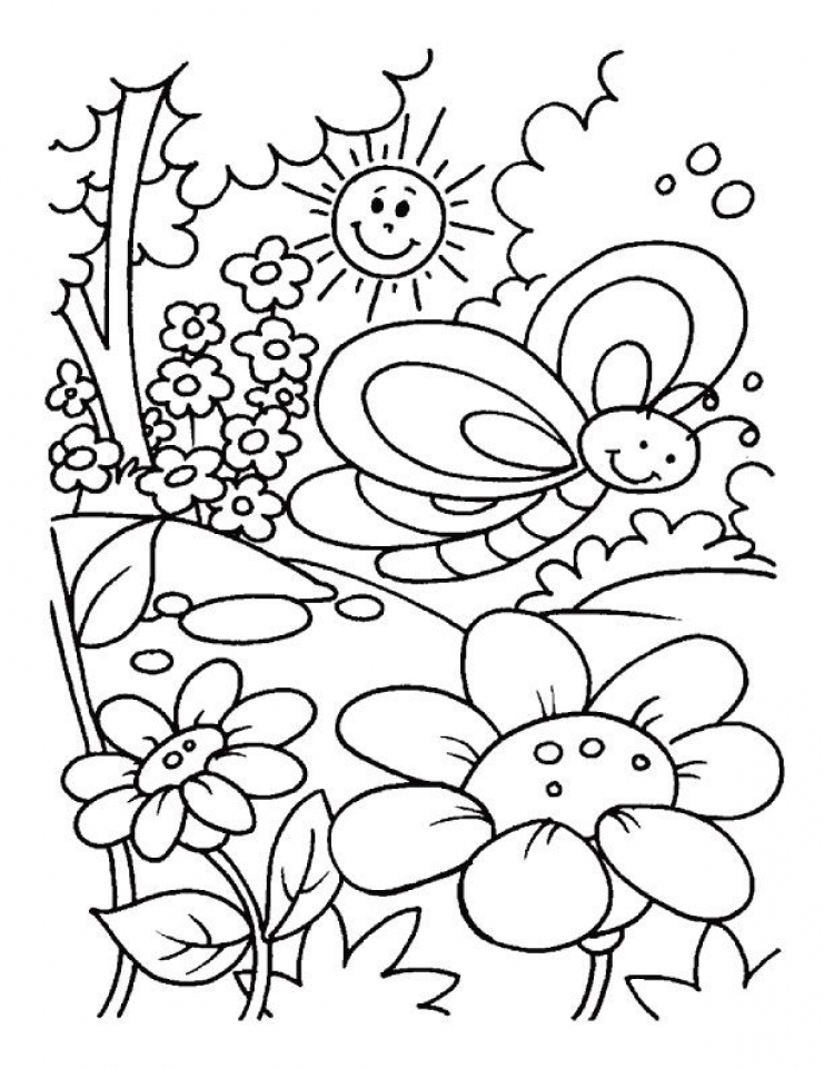 free spring coloring pages for kids yy6l0