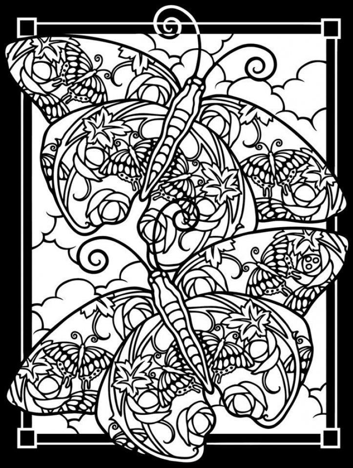 Get This Free Stained Glass Coloring Pages 92143 !