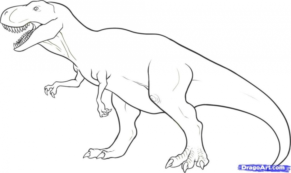 Get This Free T Rex Coloring Pages 4488 !