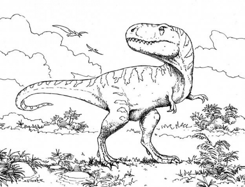 Get This Free T Rex Coloring Pages To Print