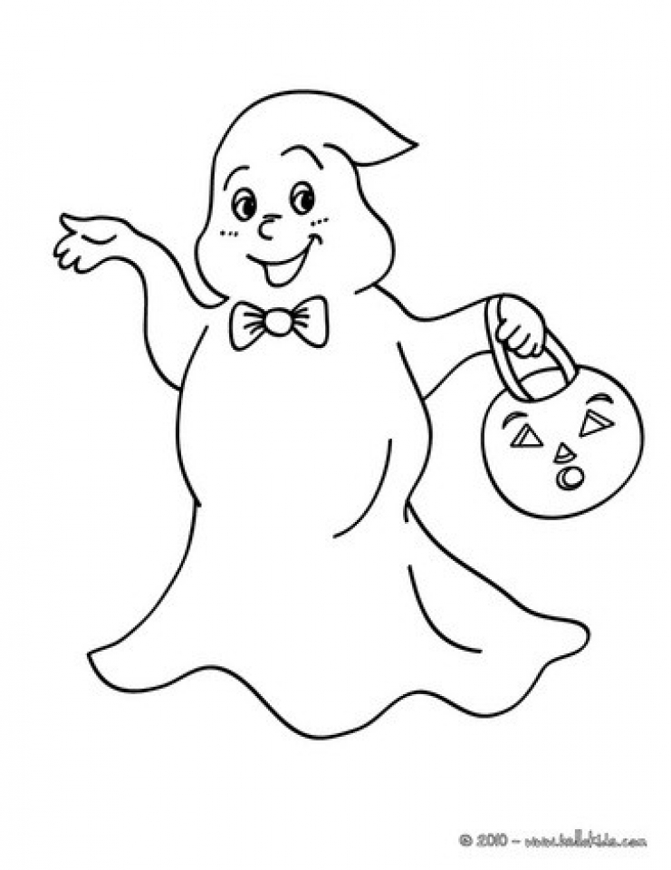 Ghost Coloring Pages Free Printable 9548