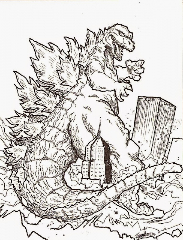 Exceptional Godzilla Coloring Pages Free To Print JU7zm