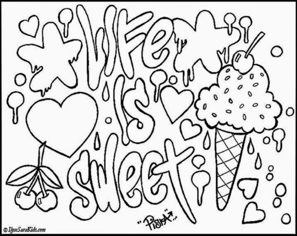 Get This Graffiti Coloring Pages Free Printable 22398