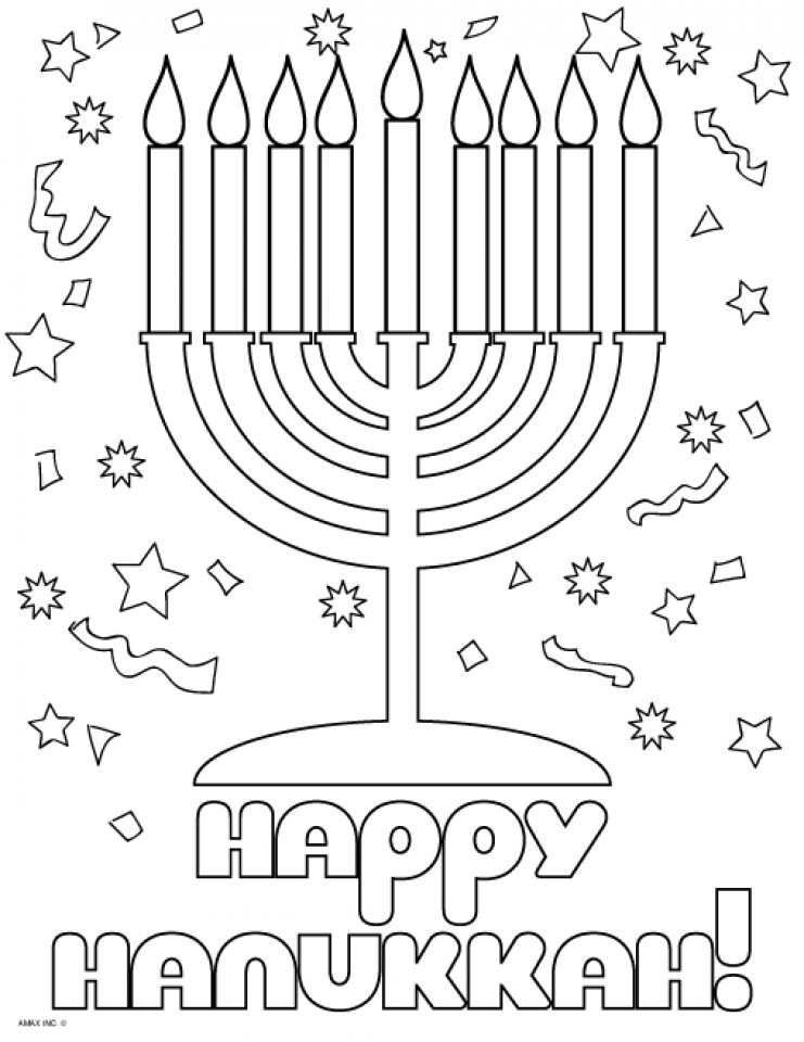 Get This Hanukkah Coloring Pages Free to Print JU7zm !