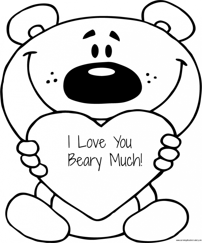 I Love You Coloring Pages Free for Kids   e9bnu