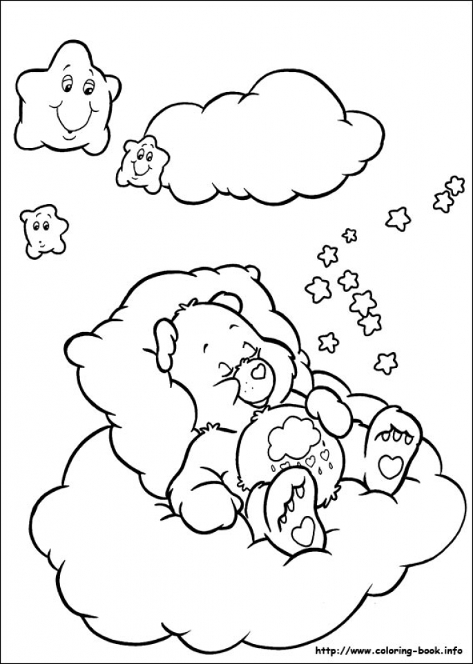 Image Of Care Bear Coloring Pages To Print For Kids Uan64