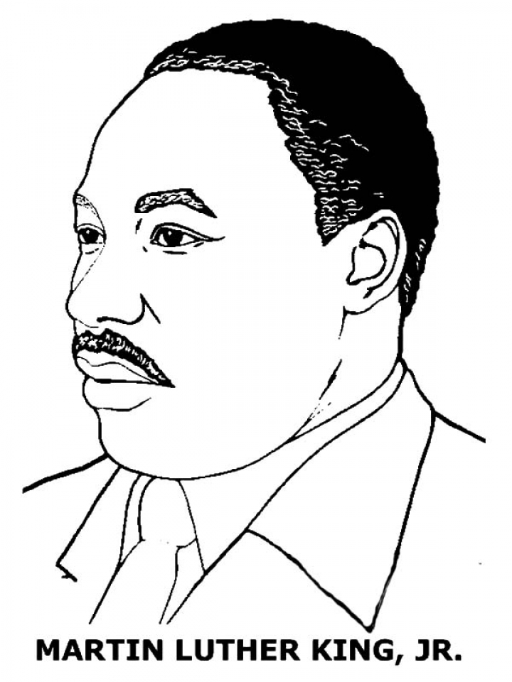Free printable coloring pages of mlk free best free for Martin luther coloring pages