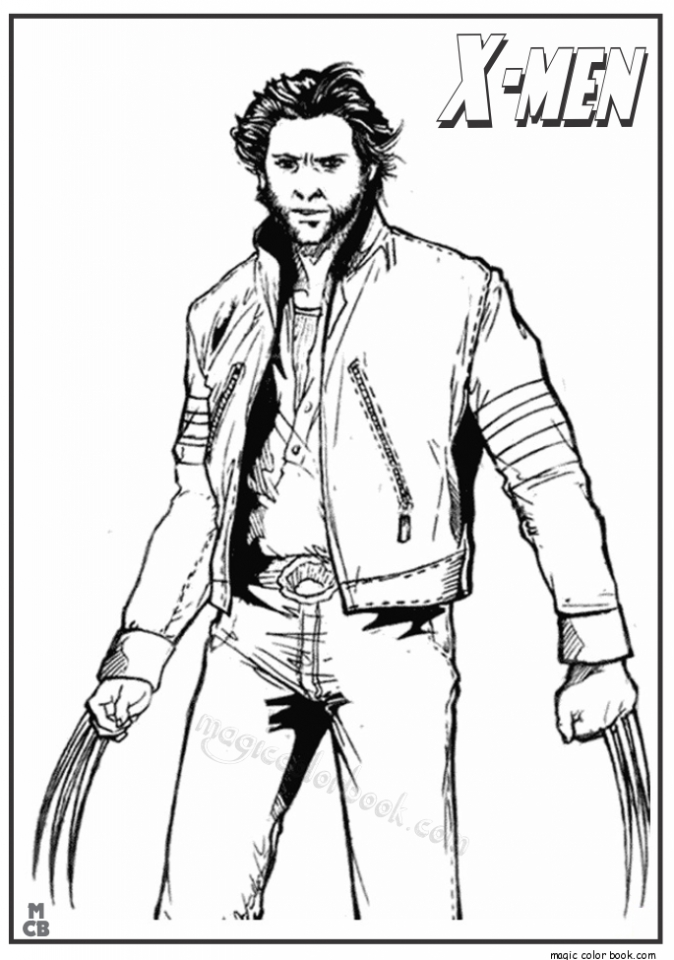 Get This Image of Wolverine Coloring Pages to Print for Kids EhR0n